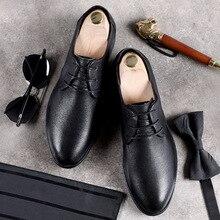 DESAI Brand 2019 Men's Genuine Leather Shoes British Lace up Black Casual Breathable Shoes Business Men Flats Fashion Formal цена