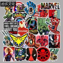 50 шт. Новый Marvel мстители супергерой мультфильм стикер для ноутбука мото скейтборд багаж гитарная надпись игрушка водонепроницаемый стикер s