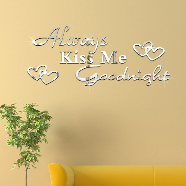 Husband and wife Always Kiss Me Goodnight Wall Art Stickers acrylic ...