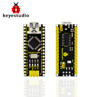 Free Shipping 1pcs Keyestudio CH340 Nano Controller Board compatible with/for Arduino CH340 nano + USB cable