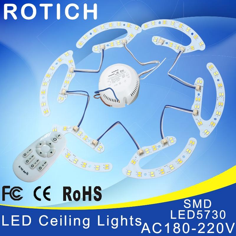 NOVINKA 8w 16w 24w 32w 2.4g Rf dálkové ovládání stropní svítidlo Lampa deska 5730smd kruhová barva teplota barvy je nastavitelná