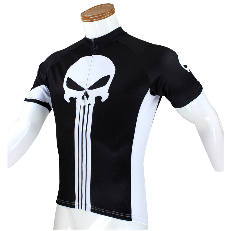 Bike jerseys Cycling equipment cycling  Punisher  Mens jerseys Sleeve Cycling Jersey Bike Motorcycle Apparels Cycling Clothing