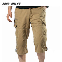 Summer Mens Military Baggy Cargo Shorts 2016 Loose Fit Multi Pocket Causal Tactical Workout Shorts Beach