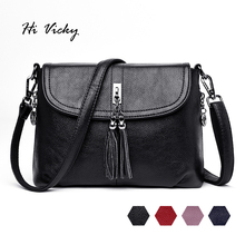 купить 2019 Luxury Tassel Clutch Handbags Women Messenger Bags Designer Brand Female Crossbody Shoulder Bags Leather Sac a Main Ladies дешево