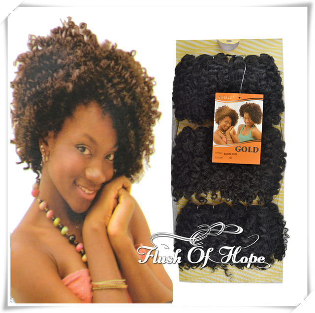 One Pack For Full Style Noble Gold Bloom Curl Synthetic Hair