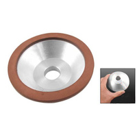 100 New 100x32x20x10x3mm Resin Bonded Flaring Cup Diamond Grinding Wheel 240 Grit