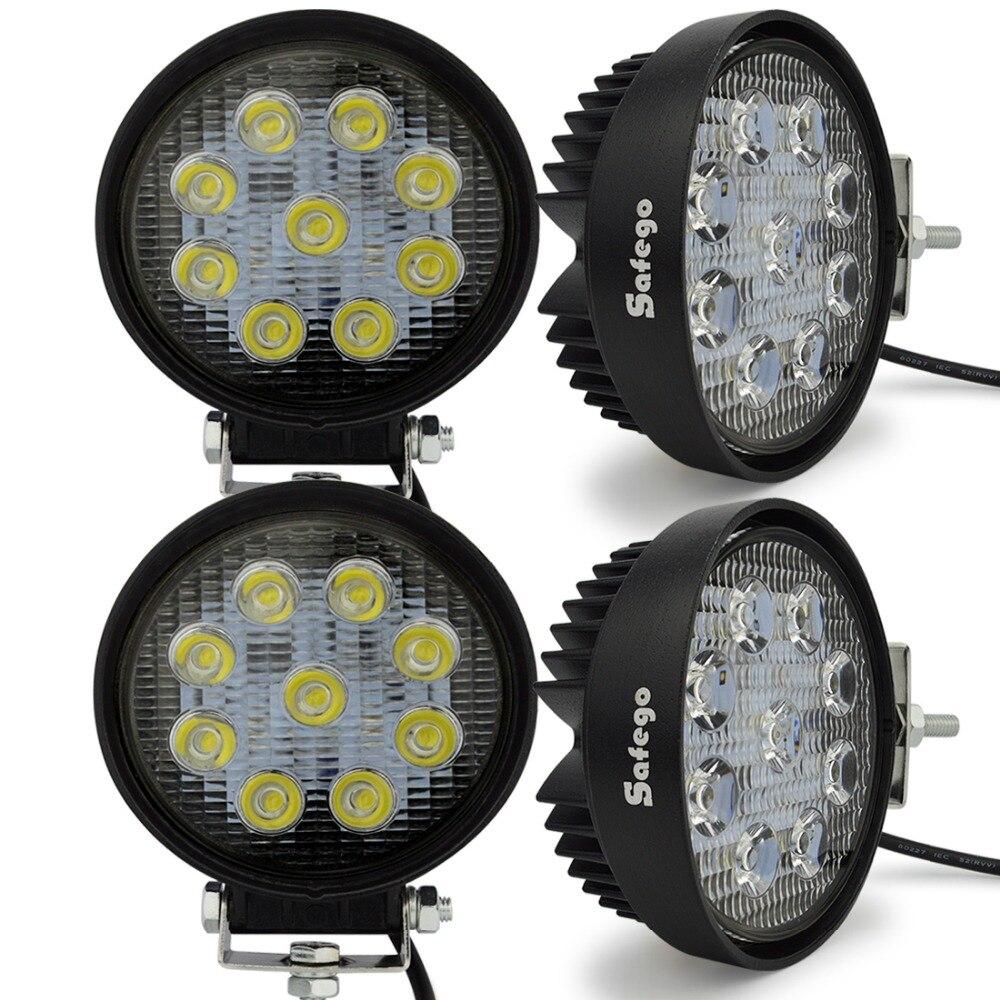 4ks Safego 27w led pracovní světlo 12V Flood Spot Led pracovní světlo lampa terénní 4x4 osobní automobily 24v Mlhové světlomety pro traktory