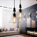 Luminária Pendente de Cristal do Candelabro Da Lâmpada do vintage com Edison Lâmpada E27 40 W 1.2 m cabo AC110V-220V 27x36 cm