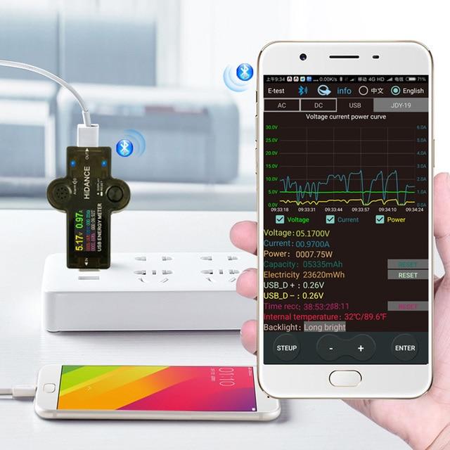 12 in 1 USB tester DC Digital voltmeter amperimetro current voltage meter amp volt ammeter detector power bank charger indicator