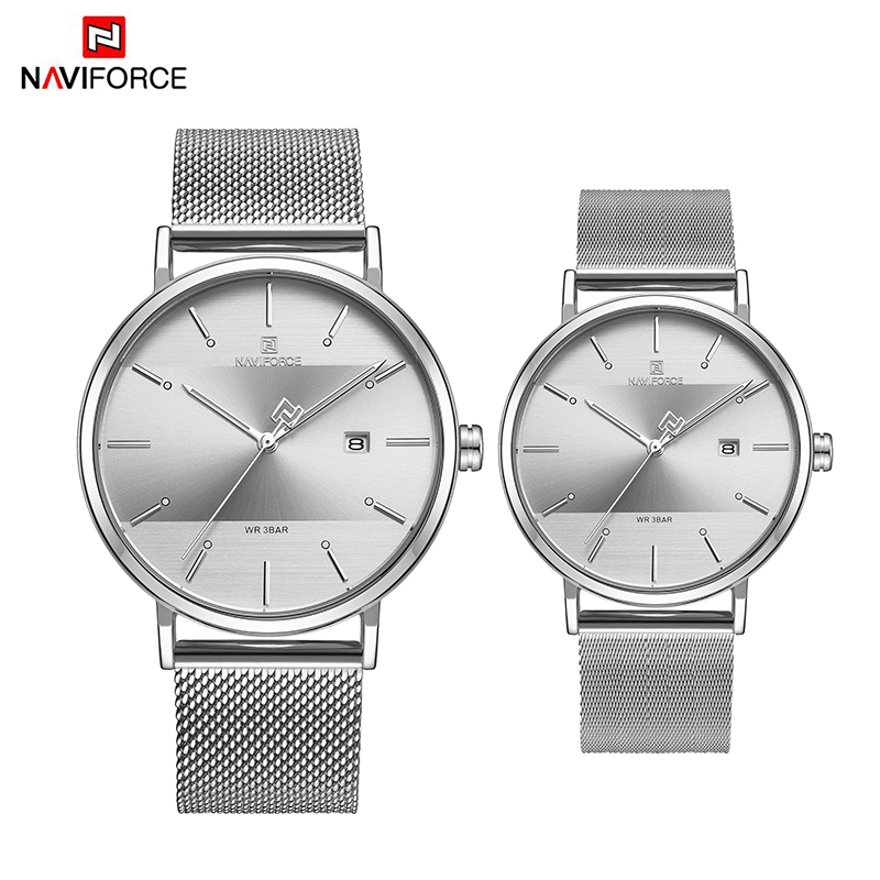 NAVIFORCE Men Women Couple Watches Fashion Lover Casul Sport Watch 2019 Luxury Top Brand Bracelet Wrist Watches For Girls Gifts