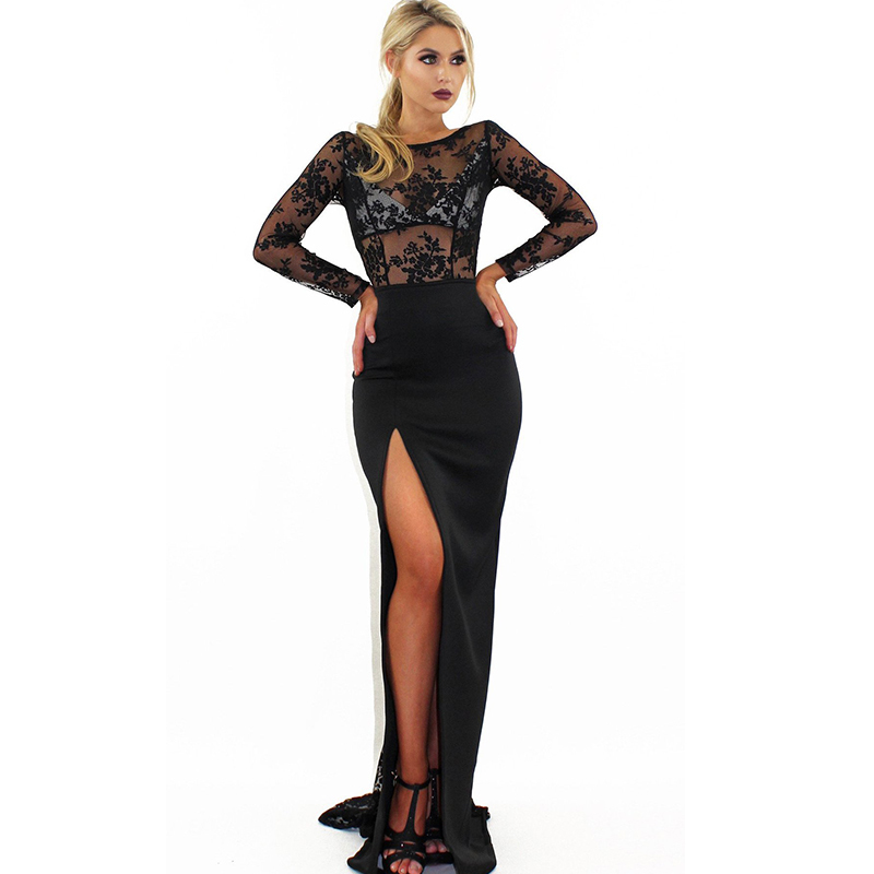MUXU summer clothes for women <font><b>Sexy</b></font> Lace black dress long sleeve bodycon party mesh dresses <font><b>vestidos</b></font> <font><b>verano</b></font> <font><b>2018</b></font> robe femme ete image