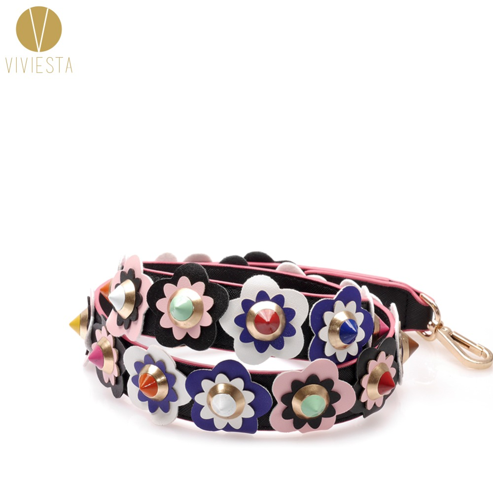 COLOR FLORAL HANDBAG STRAP - 2018 You Womens Famous Stylish Fashion Colorful Flower Bag Handle Shoulder Crossbody Across Strap
