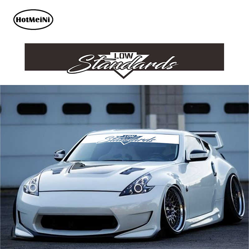 HotMeiNi 145*25cm Low Standards Banner Windshield Sticker Decal rauh welt style 2018 car JDM Black/Sliver Etc 13 Colors