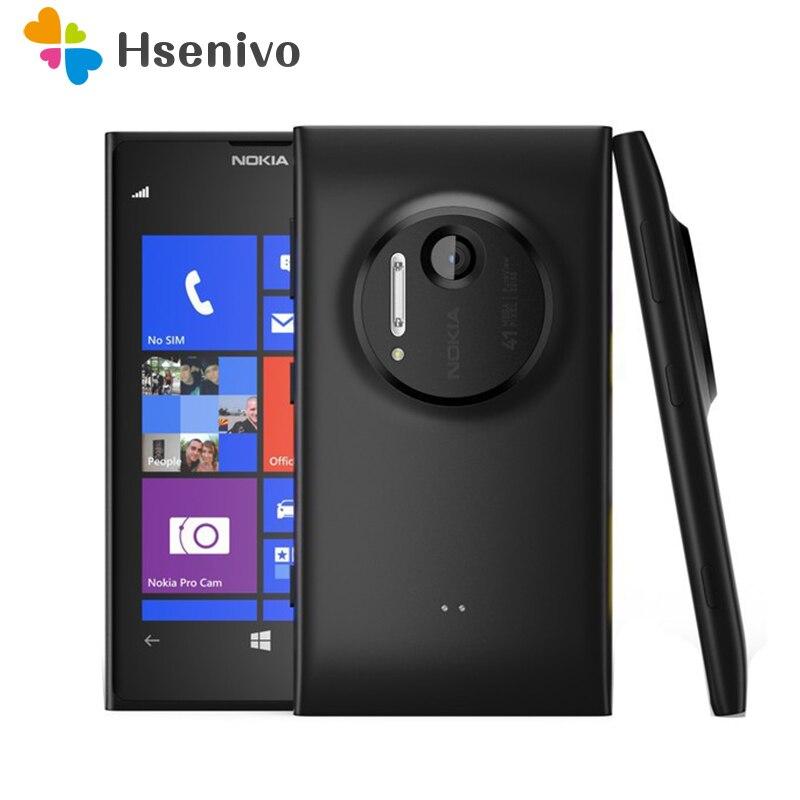 1020 Unlocked 100% Original Nokia Lumia 1020 Mobile Phone 2 RAM 32 ROM Phone 41MP GPS 4.5'capacitive touchscreen Cell Phone nokia lumia nokia lumia 1020 cell phones - title=