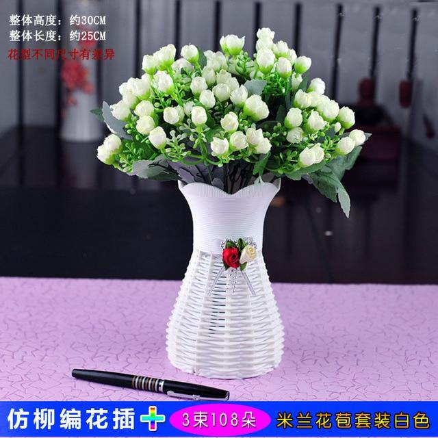Aliexpress Buy A Flower Vase Artificial Flower Set Living