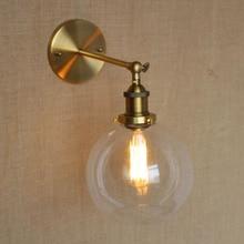 American Vintage Wall Lamps Glass Ball Retro Loft Wall Sconces Bedroom Living Room Hallway Light Fixtures Arandela De Parede