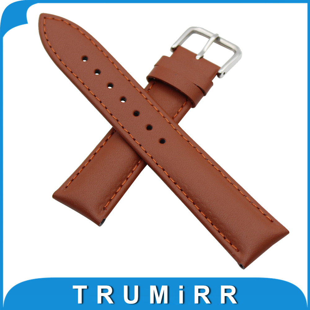 Genuine Leather Watch Band 20mm for Garmin Vivomove Stainless Buckle Strap Wrist Belt Bracelet Black Brown + Spring Bar + Tool genuine leather watch band 20mm for motorola moto 360 2 42mm men 2015 stainless buckle strap wrist belt bracelet black brown