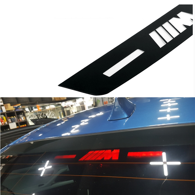 Car Styling Brake Light Sticker For BMW M Logo E46 E90 E91 E92 E93 F30 F31 F35 F80 F10 F01 F02 F03 F04 3 5 7 m emblem e46 f10 защитные аксессуары car pakistan bmw alpina