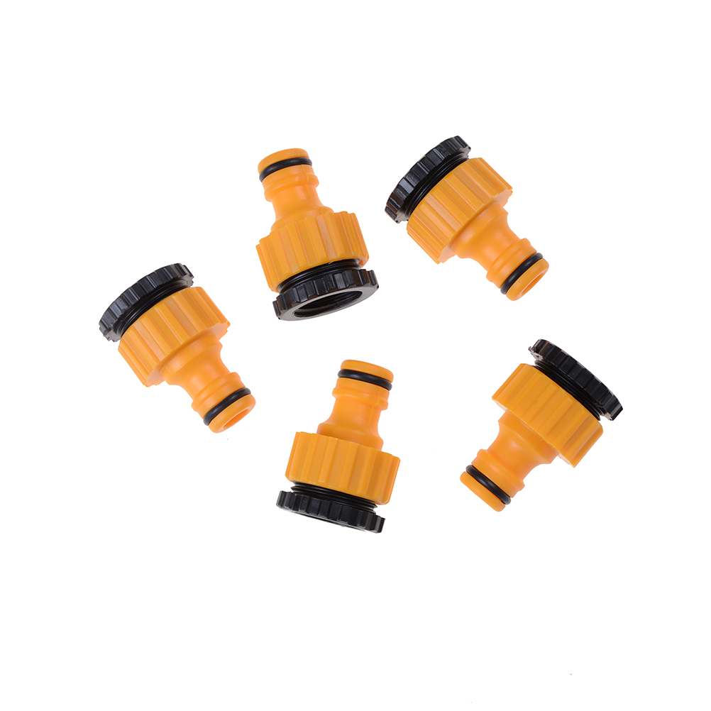 5PC Quick Tap Water Connector Adaptor Water Hose Pipe Fitting Set Watering Irrigation Garden Tools