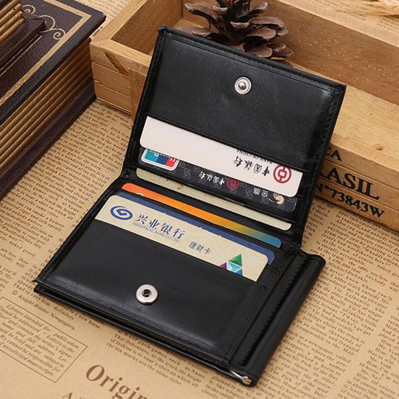 Ny Brand Luxury Business Man pengar klipp plånbok med metall klämma - Plånböcker - Foto 5