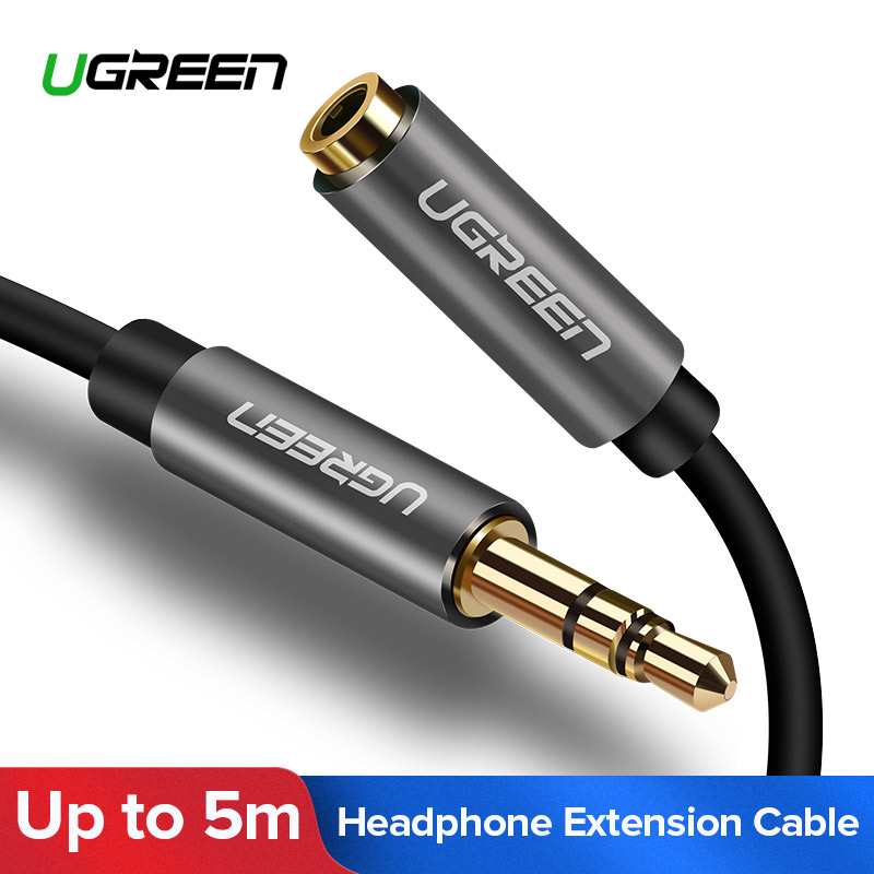 Ugreen 3.5mm Audio Aux Cable 0.5m 1m 2m 3m 5m Stereo Male to Female Headphone Extension Cabo for iPhone 6 6s 5 5s 4s Mobilephone gear shift