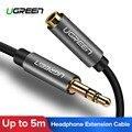 Ugreen 3.5mm Extension Audio Kabel Man-vrouw Aux Hoofdtelefoon Kabel 3.5mm verlengkabel voor iPhone 6 s MP3 MP4 Speler