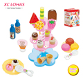 22pcs/set Simulation Food Birthday Cake Kid Toy Pretend Play Kitchen Cooking Toys Set Baby Learning Education Toys for Children