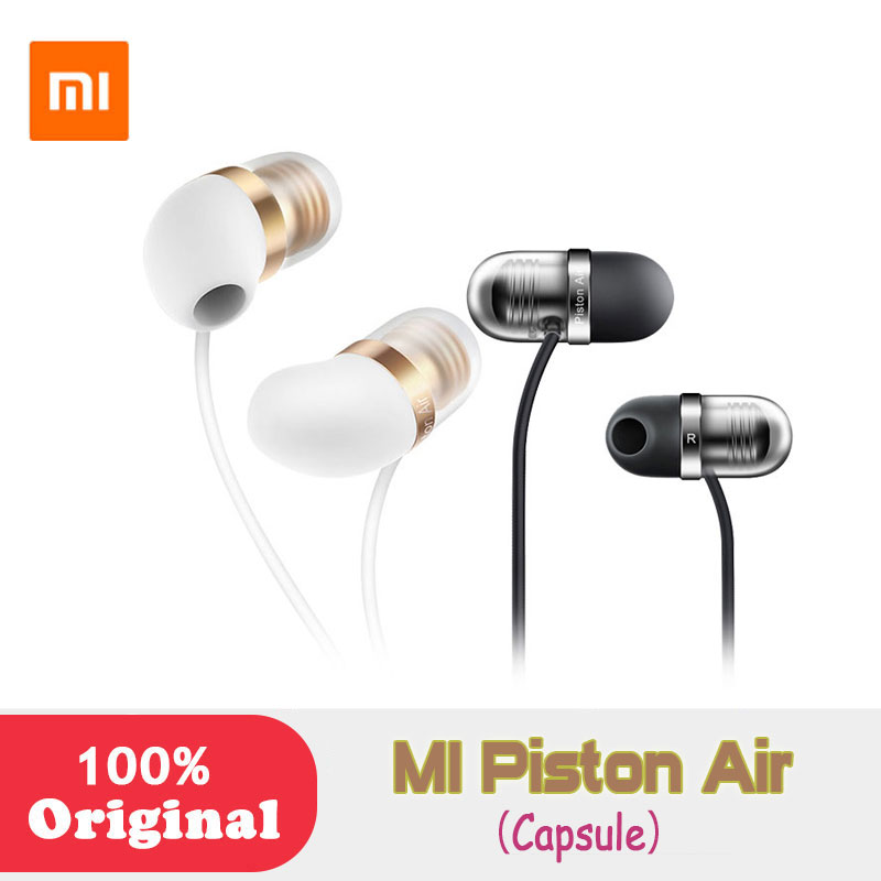 Xiaomi Capsule Original Mi Piston Air In-Ear Portable Earphones Silicone Earplugs w Microphone for iPhone android phones MP3 original xiaomi 1more piston classic in ear wired earphones gold