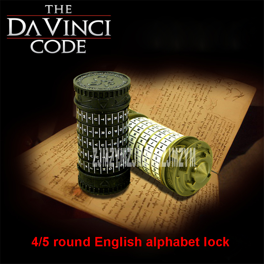 The Da Vinci Code lock lock code 4/5 alphabetical Room tank top box props true storage and own game Room Escape props 27mm фломастер акварель leonardo da vinci art da vinci 428 v66