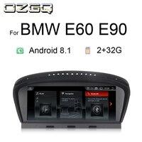 OZGQ 8,8 дюймов Android 8,1 автомобильный мультимедийный плеер gps навигатор стерео автомагнитолы для 2006 2010 BMW E60 E90 с управлением зеркалами, Wi Fi