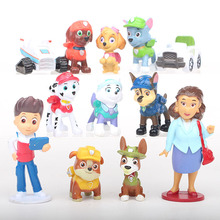 12 шт. щенок Лапы патруль собака «Щенячий патруль» Собаки Аниме Куклы Фигурки автомобиля игрушки Patroling игрушечные собаки для детей D08