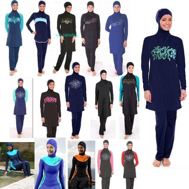 Wholesale muslim swimwear for women 12 pcs/lot islamic swimsuits from china DHL