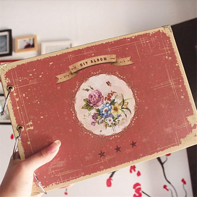 high quality vintage paper photo book green albunes de foto