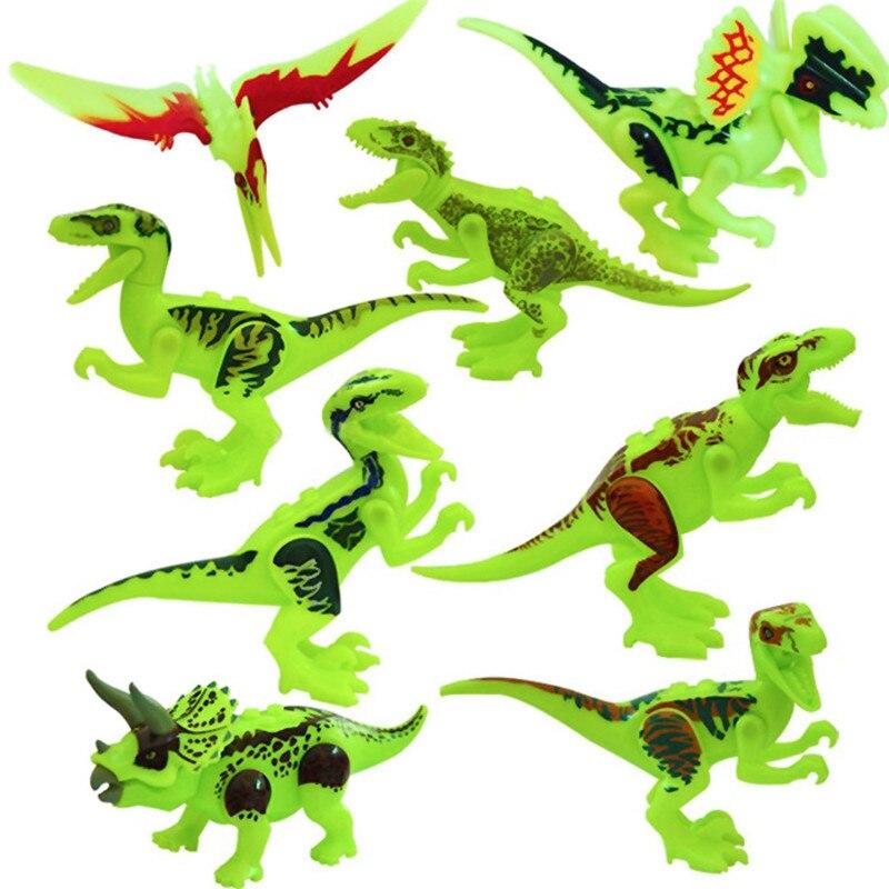 Oyuncaklar ve Hobi Ürünleri'ten Bloklar'de 80 adet Süper Kahramanlar Jurassic Dünya Dinozorlar Rakamlar Tanystropheus Tyrannosaurus Rex Yapı blok oyuncaklar'da  Grup 2