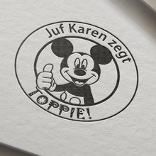 Dutch The Mouse Great Job Teacher Gift Stamp personalized custom name stamp self inking for gift school with Micke TOPPIE!(China)