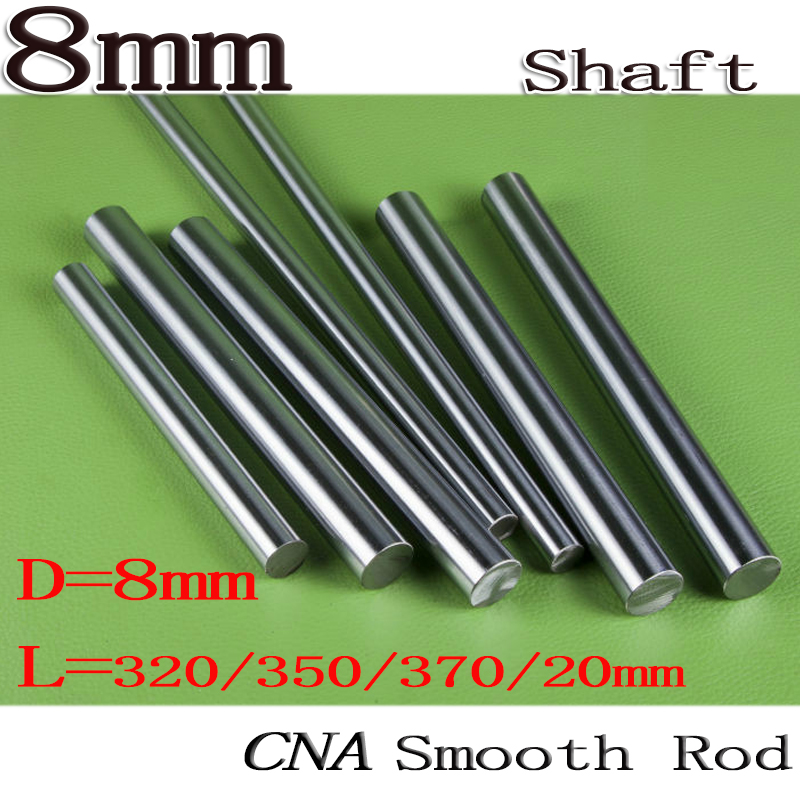 Prusa i3 Rework/ Prusa i3 Single Sheet Frame 8mm Smooth Rod 20/320/350/370mm Chrome Precision Hardened Rod Linear Shaft Rail Bar цены