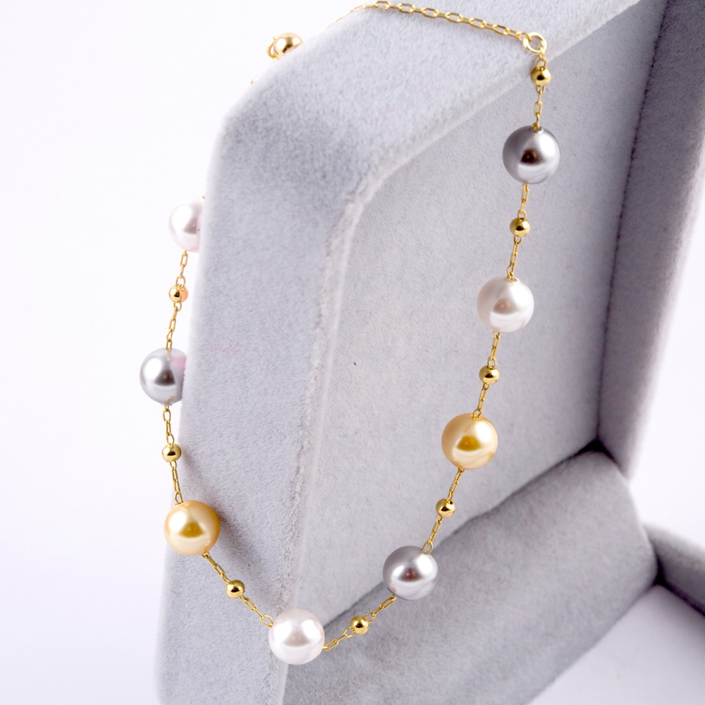 Multi Color Fashion Simulated Pearl Bracelets Female Beads Small Bead 925 sterling silver Wedding Jewelry For Women Bracelet