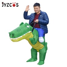 JYZCOS Inflatable Crocodile Costume Halloween for Women Man Animal Cosplay Purim Christmas Party Fancy Dress