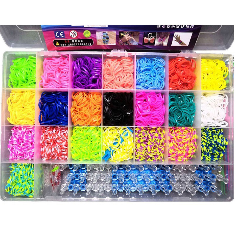 22 colors Children Rainbow Elastic Band Kit Loom DIY Toy for Weaving Bracelet Charm Crafts Loom Band Rubber Elastic Gift 4600pcs ian gillan band ian gillan band live at the rainbow