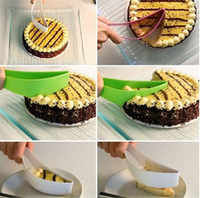 1PC Cake Pie Slicer Sheet Guide Cutter Server