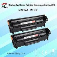 2PCS Toner Cartridge Q2612A Q2612 2612a 12a 2612 For Hp Laserjet 1010 1020 1015 1012 3015