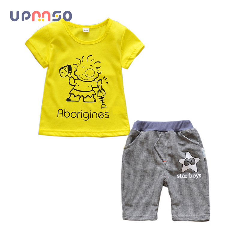 Baby Boy Clothing Sets Fashion Cartoon T-Shirt+ Pants Set Summer Kid Outfit Toddler Children Cotton Tracksuit Clothes