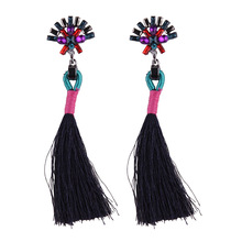 Summer Candy Color Long Tassel Earring