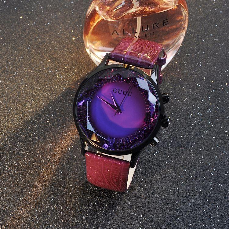 912a0da3fe4b GUOU Nuevas Señoras Reloj Correa de Cuero de Moda Relojes de Las Mujeres  Impermeables Calendario Personalidad Square Mujeres Del Reloj orologi  donnaUSD ...