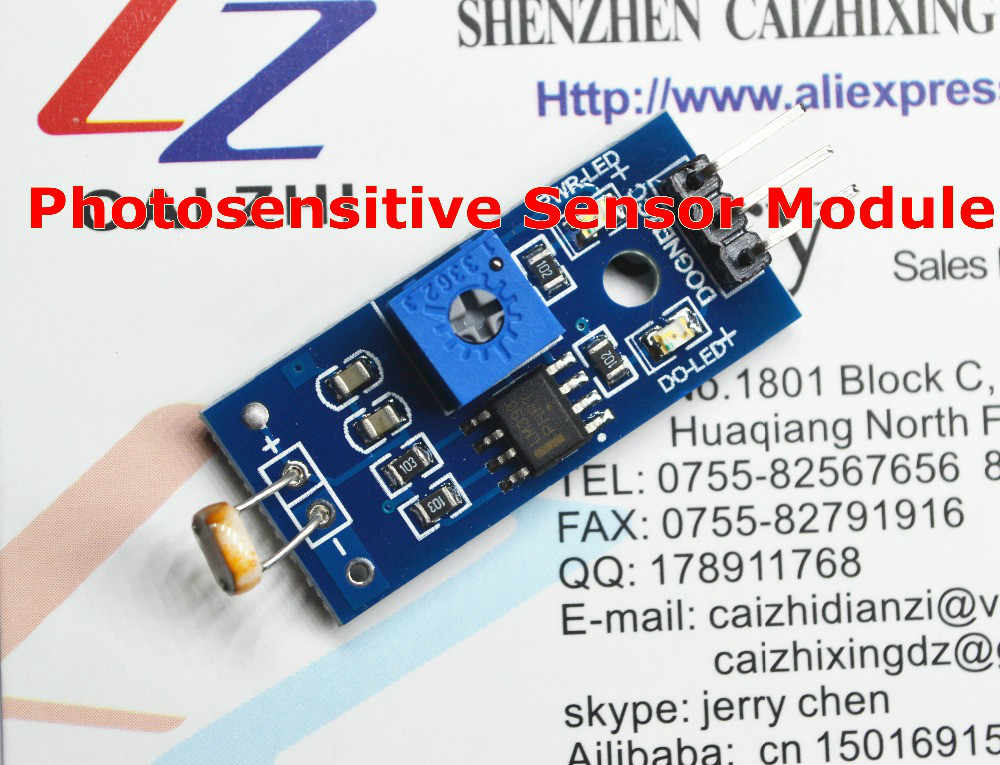 Free Shipping Photosensitive Sensor Module Light Detection Module for Arduino