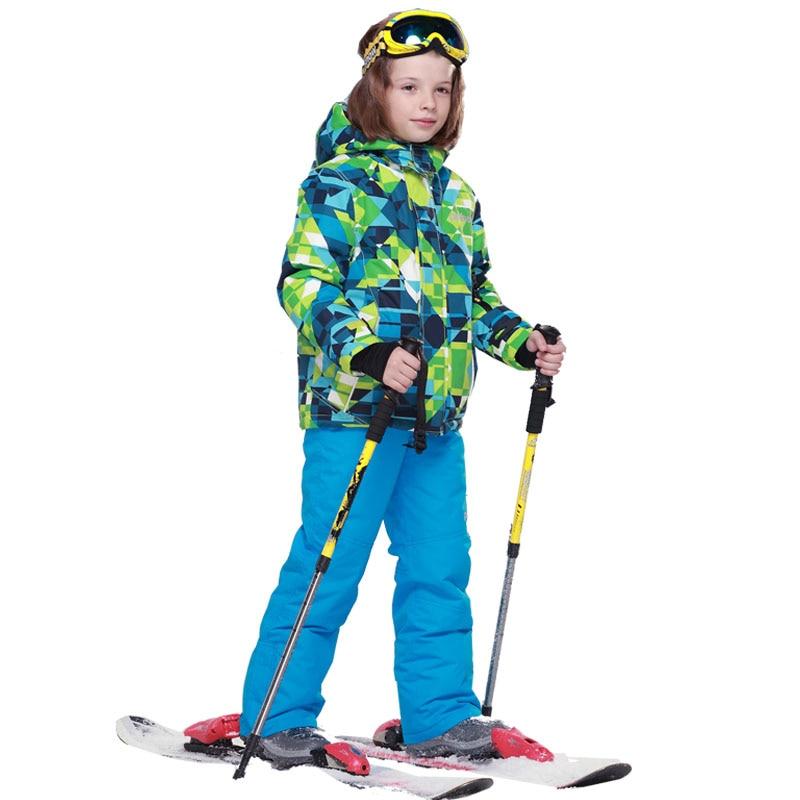 Mioigee 2018 Boys Ski Sets Winter Waterproof Windproof Kids Ski Jacket Children Outdoor Warm Hooded Snowboard Sports Suits children kids boys winter windproof padded jacket hooded jacket ski jacket high quality size 116 140