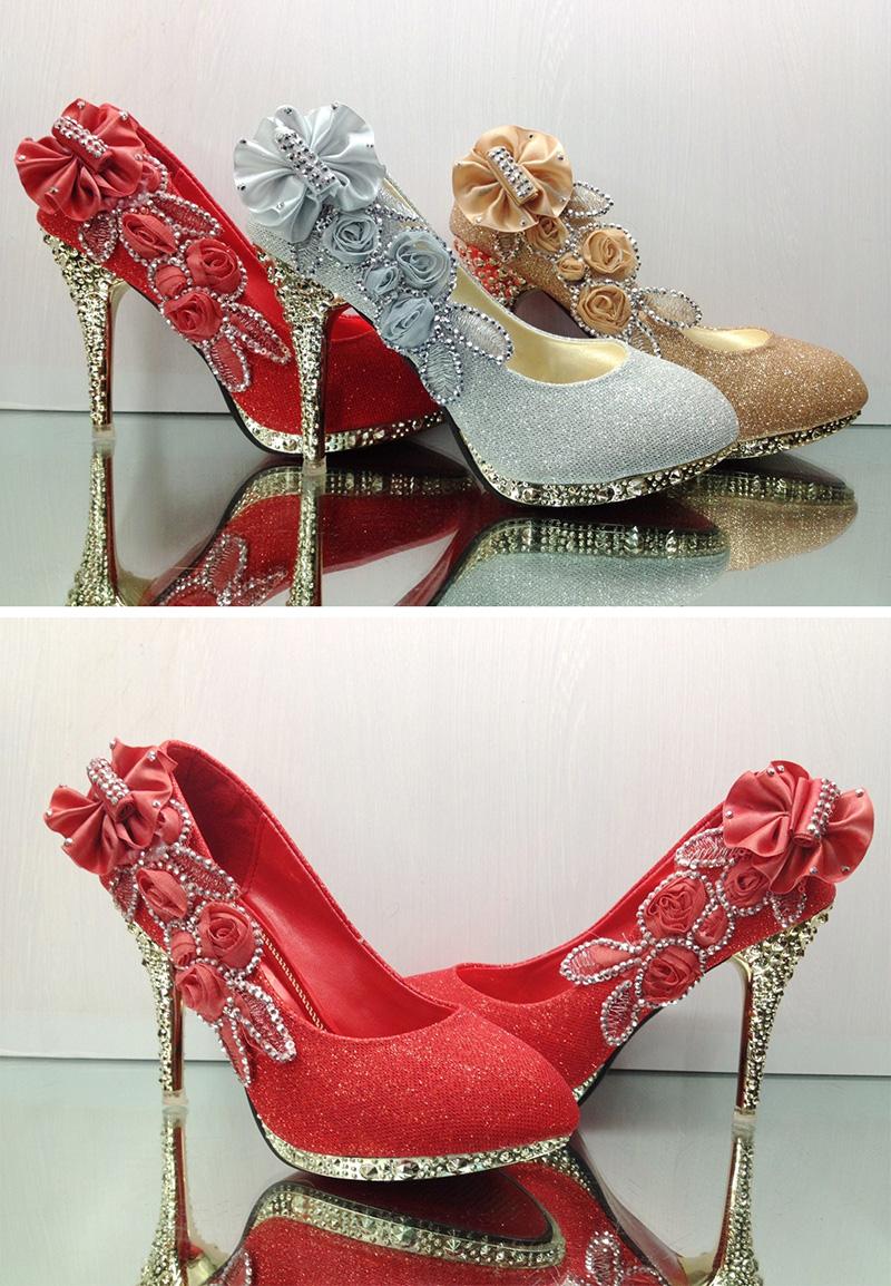 19 Colorful Wedding Shoes Women Pumps Sexy Ladies Super High Heels Fashion Party Women Shoes Thin Heel 8cm 10cm YX721 3