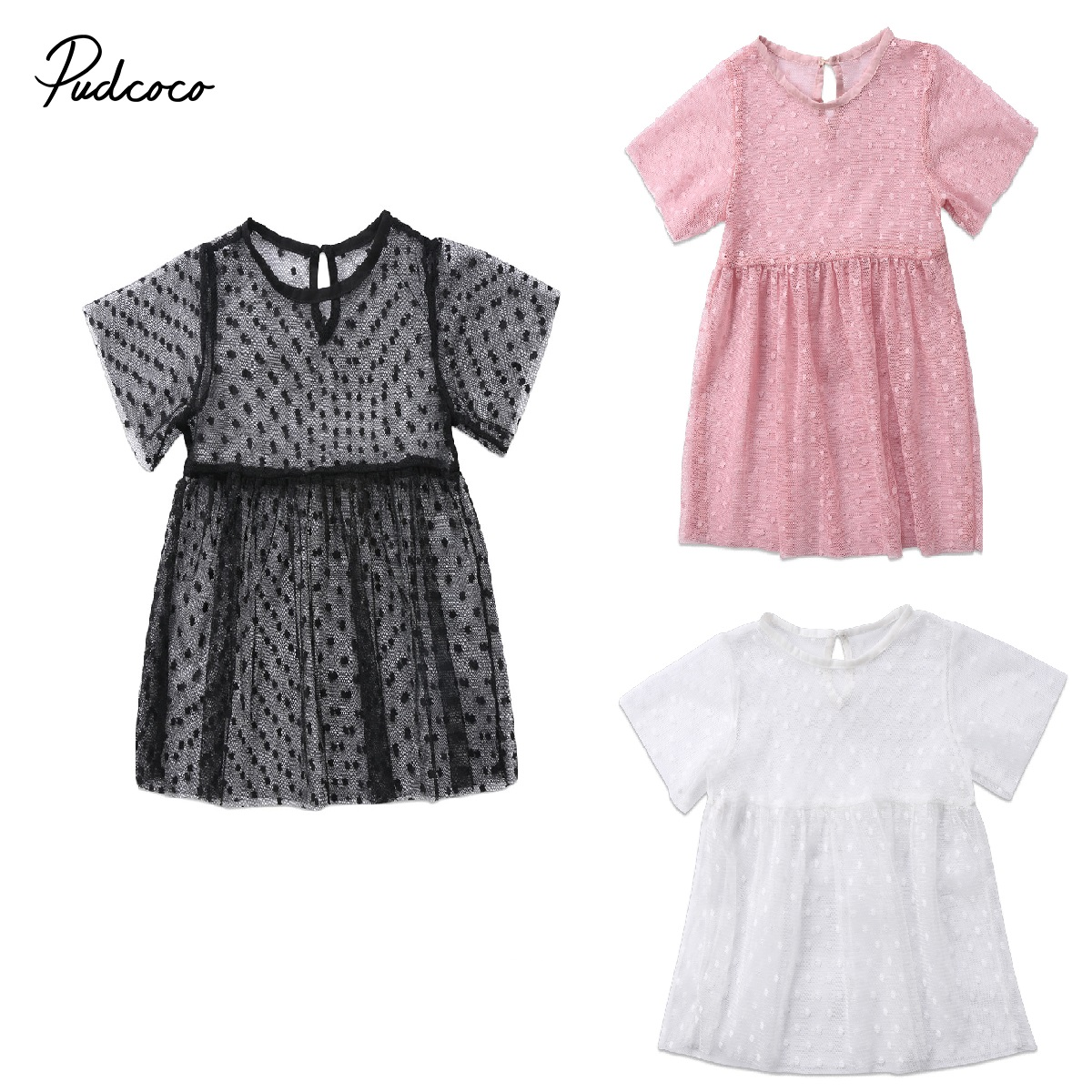 2018 Brand New Toddler Infant Child Kids Baby Girls Perspective Derss Princess Dress Mesh Gown Party Wedding Pageant Tutu 6M-5T girls princess dress summer new sleeveless for 6 7 8 9 10 11 12 13 14 15 16 years child brand wedding party long tutu full dress