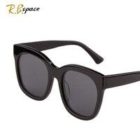 RBspace Fashion Vintage Big Lenses Brand Design Sunglasses Polarized UV400 Man Luxury Retro Women S Round