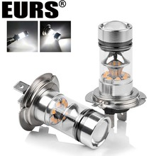 EURS Motorcycle automobile 6000K 3000LM 24W H7 car low beam font b lamp b font Daytime